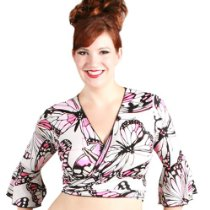 Extended Sahara Solid Wrap Top X-Lg Butterfly